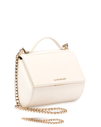 Pandora Box Mini Chain Shoulder Bag, Ivory