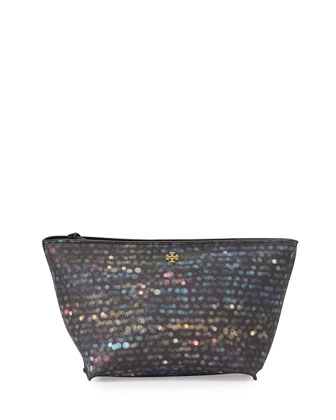 Kerrington Medium Flash Cosmetics Pouch, Black Multi