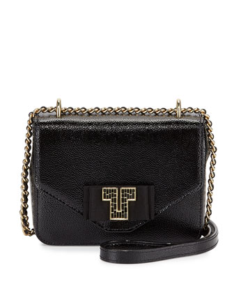 Kira Deco Chain Shoulder Bag, Black