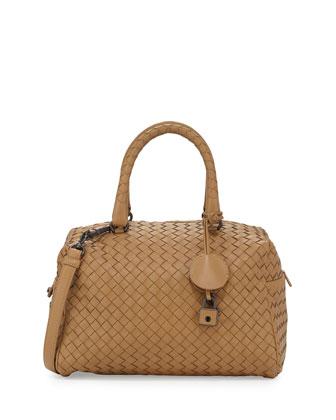 Olimpia Medium Napa Leather Shoulder Bag, Camel