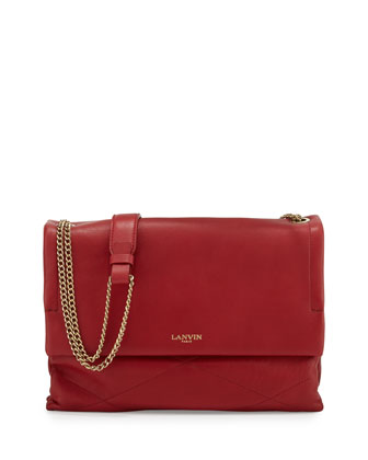 Sugar Medium Chain Shoulder Bag, Red