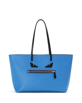 Monster Medium Roll Tote Bag, Blue
