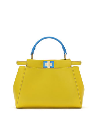 Peekaboo Mini Satchel Bag, Yellow