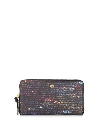 Kerrington Flash Continental Wallet, Black/Multi