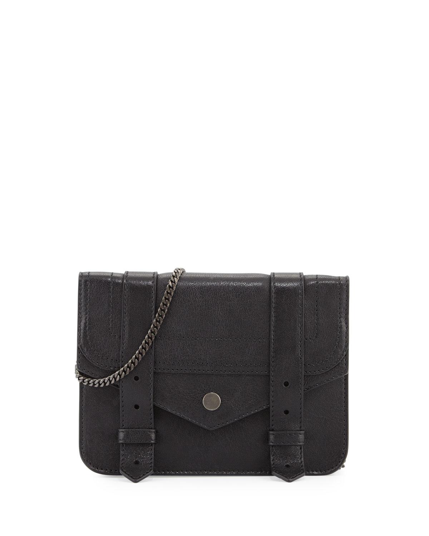 Large Lambskin Chain Wallet, Black, Size: L - Proenza Schouler