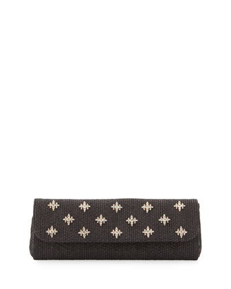 Florentine Embellished Evening Clutch Bag, Black