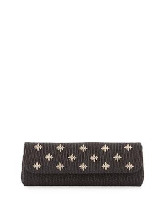 Florentine Embellished Evening Clutch Bag, Black