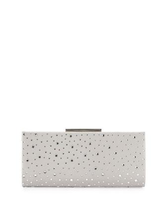 Beth Embellished Evening Clutch Bag, Silver