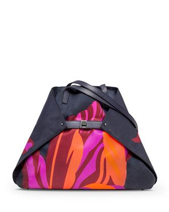 Ai Medium Tulip-Print Shoulder Bag