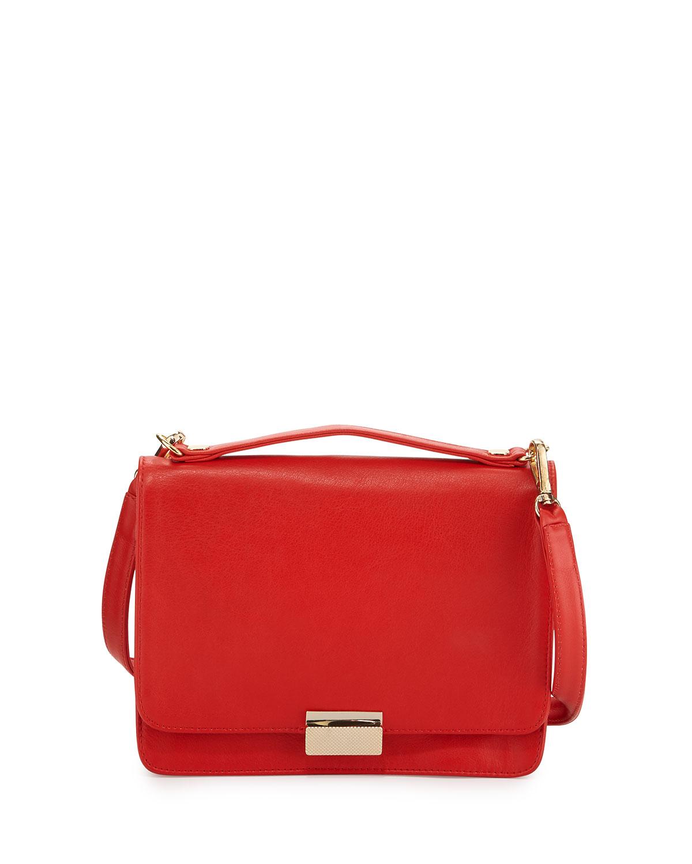 Taylor Leather Crossbody Bag, Fire (Red) - Lauren Merkin