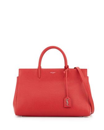 Cabas Rive Gauche Medium Tote Bag, Rouge Red