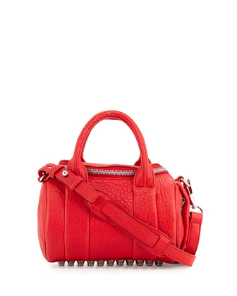 Mini Rockie Dumbo Pebbled Duffel Bag, Red