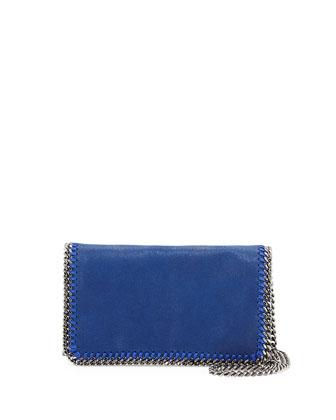 Falabella Crossbody Clutch Bag, Blue