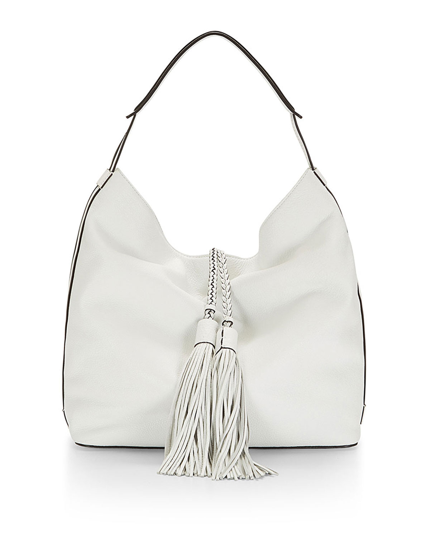 Isobel Leather Hobo Bag, White - Rebecca Minkoff