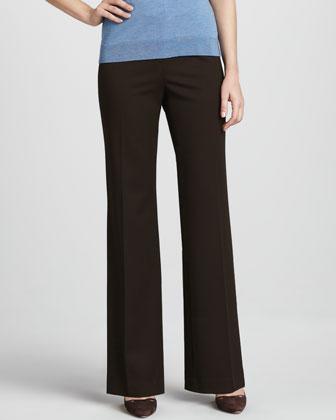 Menswear-Style Pants, Espresso