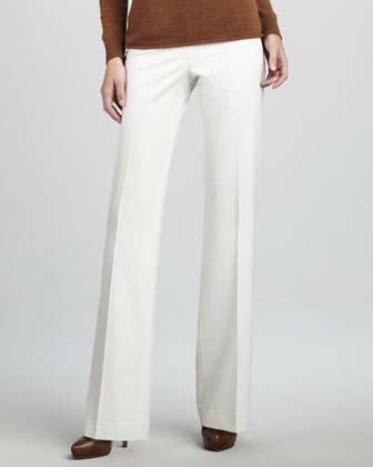 Menswear-Style Pants, Winter White