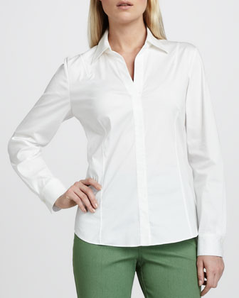 Katie Stretch-Cotton Blouse