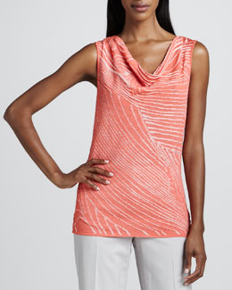 Lafayette 148 New York Dayglow Patterned Tank