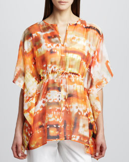 Studio 148 by Lafayette 148 New York Galia Mandarin-Print Top