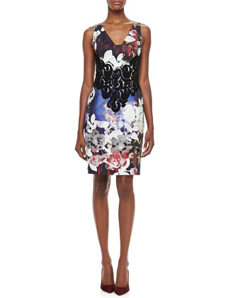 Floral & Lace Sheath Dress