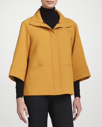Emiline Wool Crepe Jacket