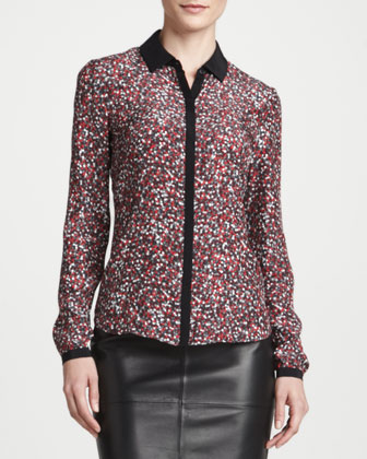 Spark Printed Silk Blouse