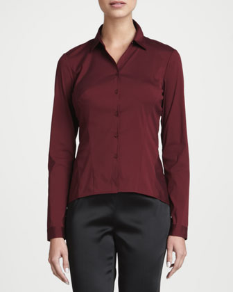 Mavis Long-Sleeve Stretch Blouse