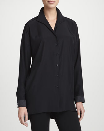 Selma Silk Button-Front Tunic