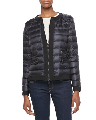Marais Ribbed Trim Puffer Jacket