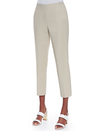 Lightweight Pleated Cap-Sleeve Top & Metro Bleeker Cropped Pants
