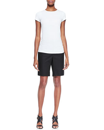Metro Stretch Four-Pocket Bermuda Shorts, Black