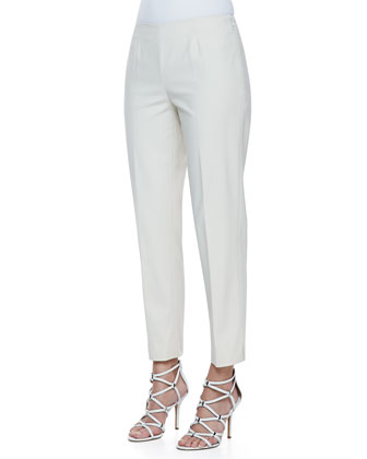 Metro Stretch Cropped Bleecker Pants, Raffia