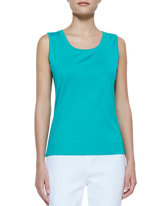 Ribbed Sleeveless Tank Top