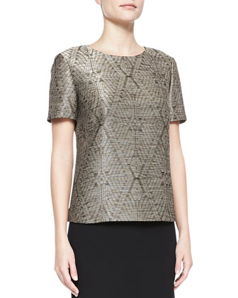 Optic Diamond Jacquard Top