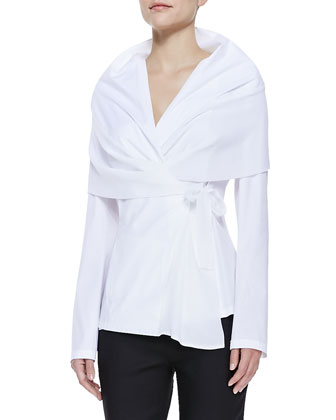 Bethany Stretch Cotton Wrap Jacket