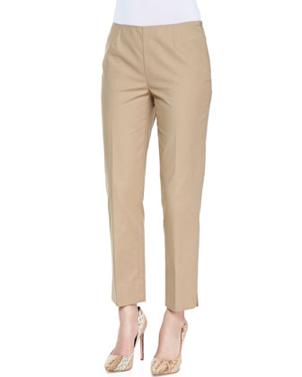 Metro Stretch Bleecker Cropped Pants, Chai