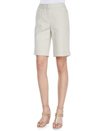 Metro Stretch Bermuda Shorts, Khaki