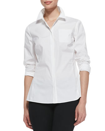 Rowley Long-Sleeve Blouse, White