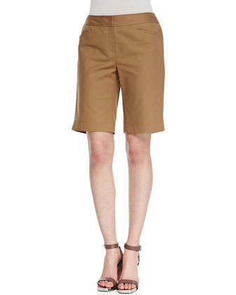 Cotton-Stretch Basic Tee & Metro Stretch Bermuda Shorts