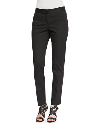 Downtown Straight-Leg Pants, Black