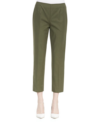 Metro Stretch Bleecker Cropped Pants, Kale