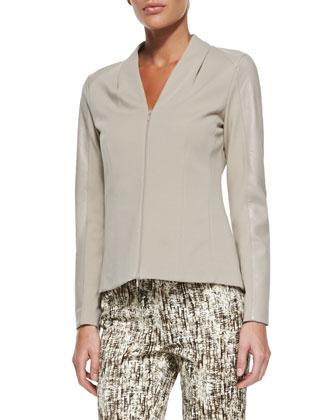 Farro Punto Milano Zip-Front Jacket & Bark Impression Stanton Pants