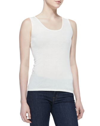 Scoop-Neck Silk-Cashmere Tank