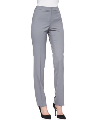 Crosby Straight-Leg Pants, Rock