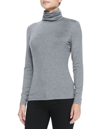 Nouveau Jersey Turtleneck Sweater, Nickel