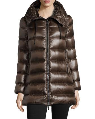 Suyen Shiny Hooded Puffer Coat