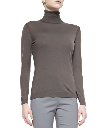 Fine-Gauge Merino Turtleneck, Lead