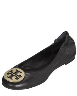 Tory Burch Reva Leather Ballet Flat