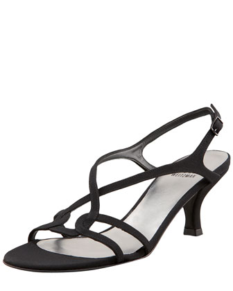 Reversal Slingback Evening Sandal, Black