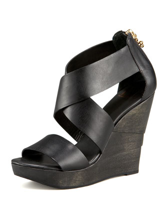 Opal Crisscross Wedge Sandal